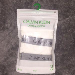 Boys Calvin Klein Cotton Stretch Briefs 3 Pack